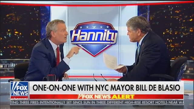 Hannity, After Nutty de Blasio Interview, Tells Dems: Look, It's Not So Bad!