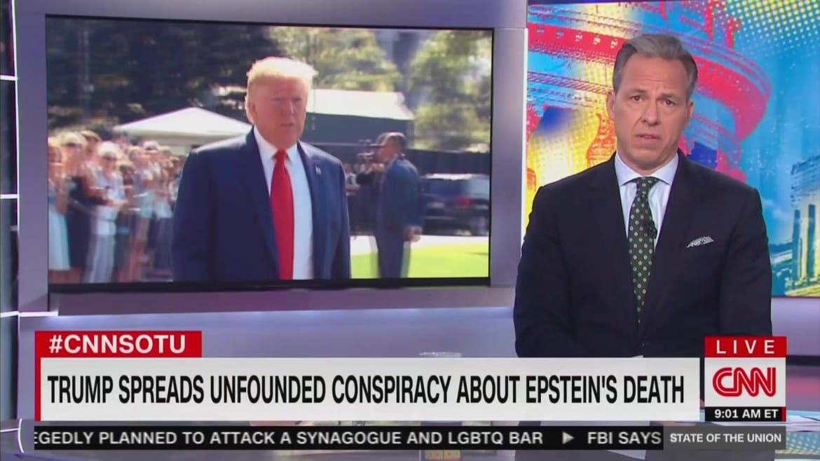 CNNs Jake Tapper: Trump Spreads Conspiracies to Amplify the 'Worst of Us'
