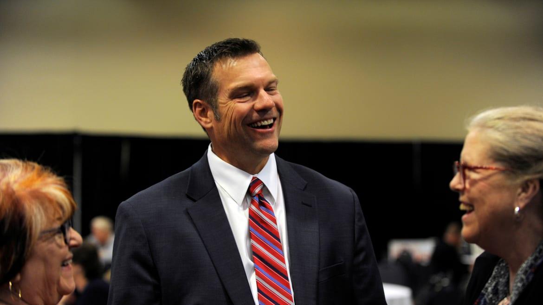 Kris Kobach Enters U.S. Senate Race, Misspells Own First Name