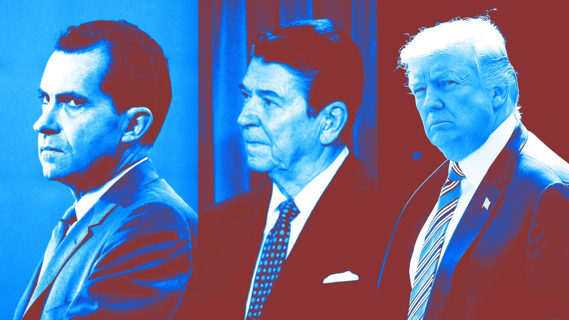 Donald Trump Sounds Likes Ronald Reagan, Who Sounded Like Richard Nixon, Who Sounded Racist