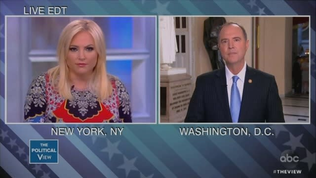 Meghan McCain Confronts Adam Schiff: Show Me Your 'Smoking Gun' on Trump Collusion Now