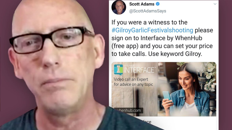 'Dilbert' Creator Scott Adams Tries to Sell Interviews With Gilroy Garlic Festival Shooting Survivors