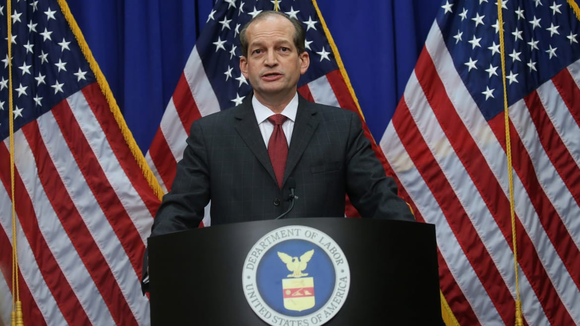 Alexander Acosta Says He's Actually the Hero of the Jeffrey Epstein Case