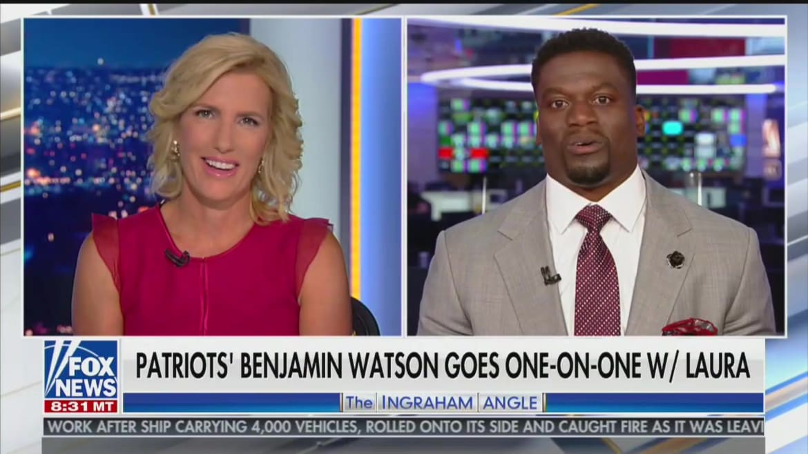 'I Read the Article!': Laura Ingraham's Interview With Black NFL Star Ben Watson Backfires
