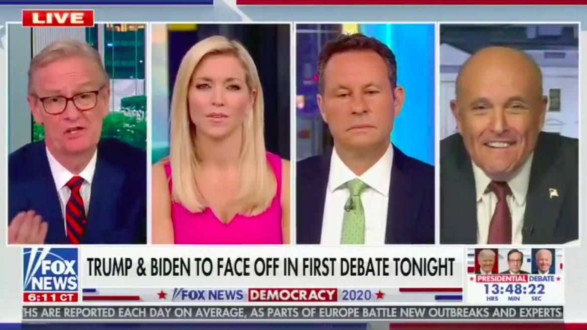 'Fox & Friends' Hosts Look On in Horror as Rudy Giuliani Blurts Out Biden Dementia Conspiracy Theory