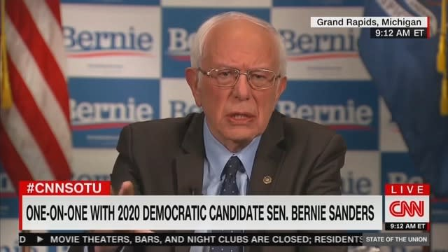 Bernie Sanders Feels Joe Biden Is 'Up to the Task' of the 'Rigors' of Being President