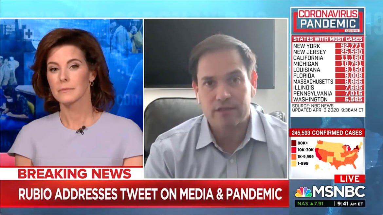 MSNBC Host Stephanie Ruhle Shuts Down Marco Rubio's Coronavirus Spin