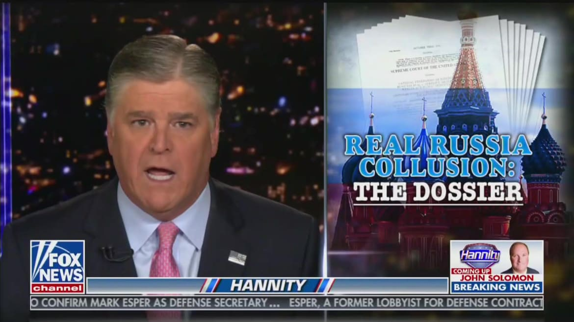 Hannity Provides 'Tutorial' to Republicans on What to Ask Mueller at Hearing