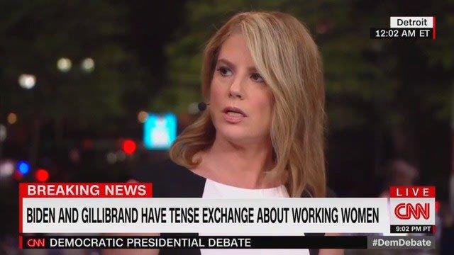 CNN Analyst Blasts Kirsten Gillibrand's 'Craven' and 'Unfair' Attack on Joe Biden During Debate