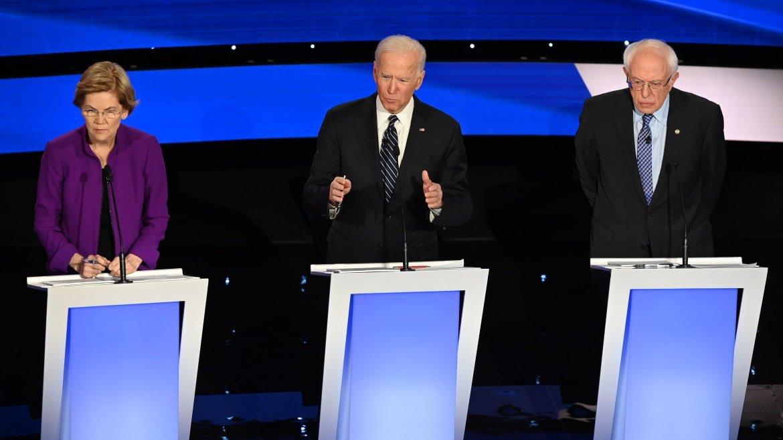 Warren and Biden Skirmish Over U.S. Troops in Middle East