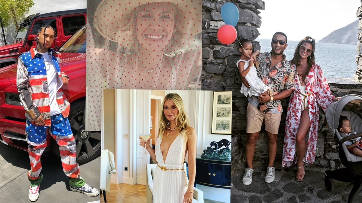 Did You Have Fun on the 4th? J.Lo, Chrissy Teigen, John Legend, and Gwyneth Paltrow Sure Did