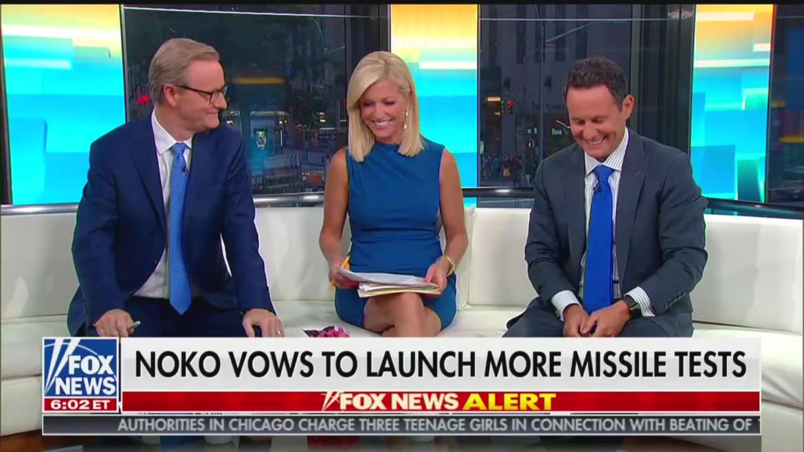 'Fox  Friends' Hosts Laugh as Brian Kilmeade Says Trump Has 'Policy of Underreacting'