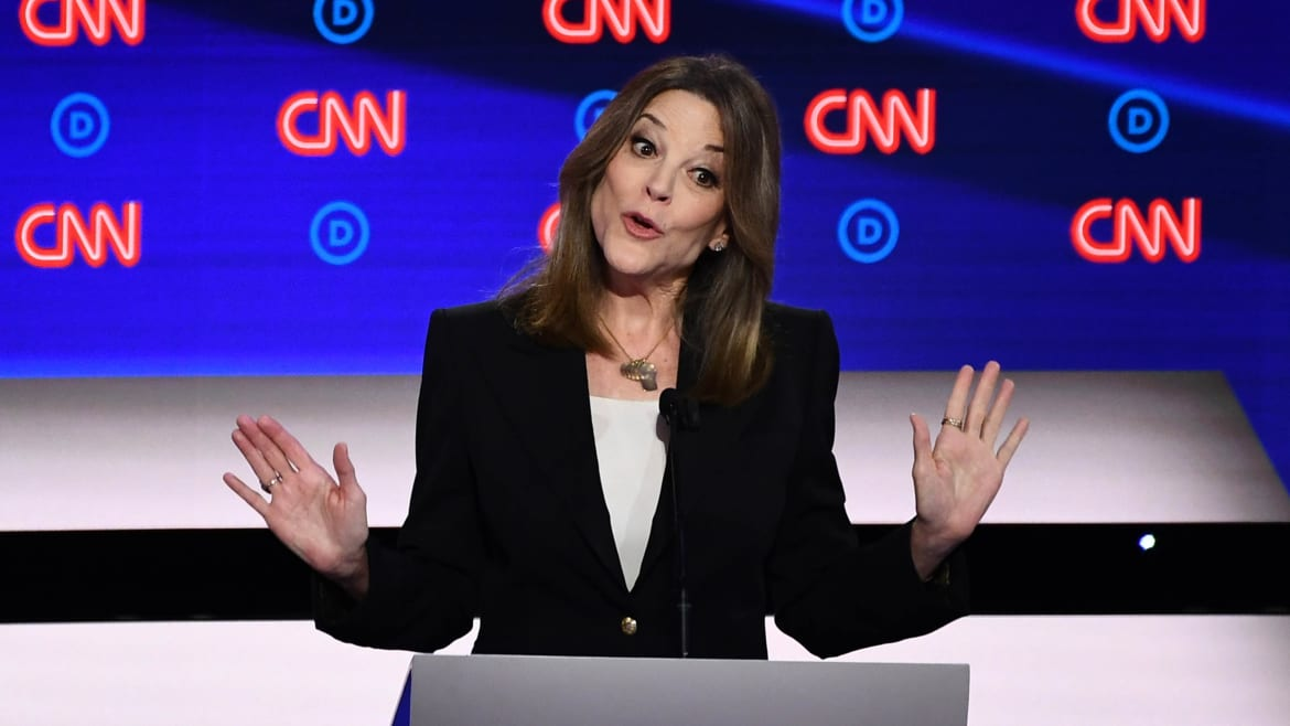Marianne Williamson Takes on Racism—and Warns of 'Dark Psychic Force'