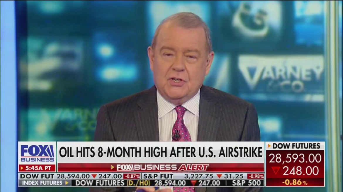 Fox's Stuart Varney: Why Would You Impeach a President Who Just Killed a Terrorist?