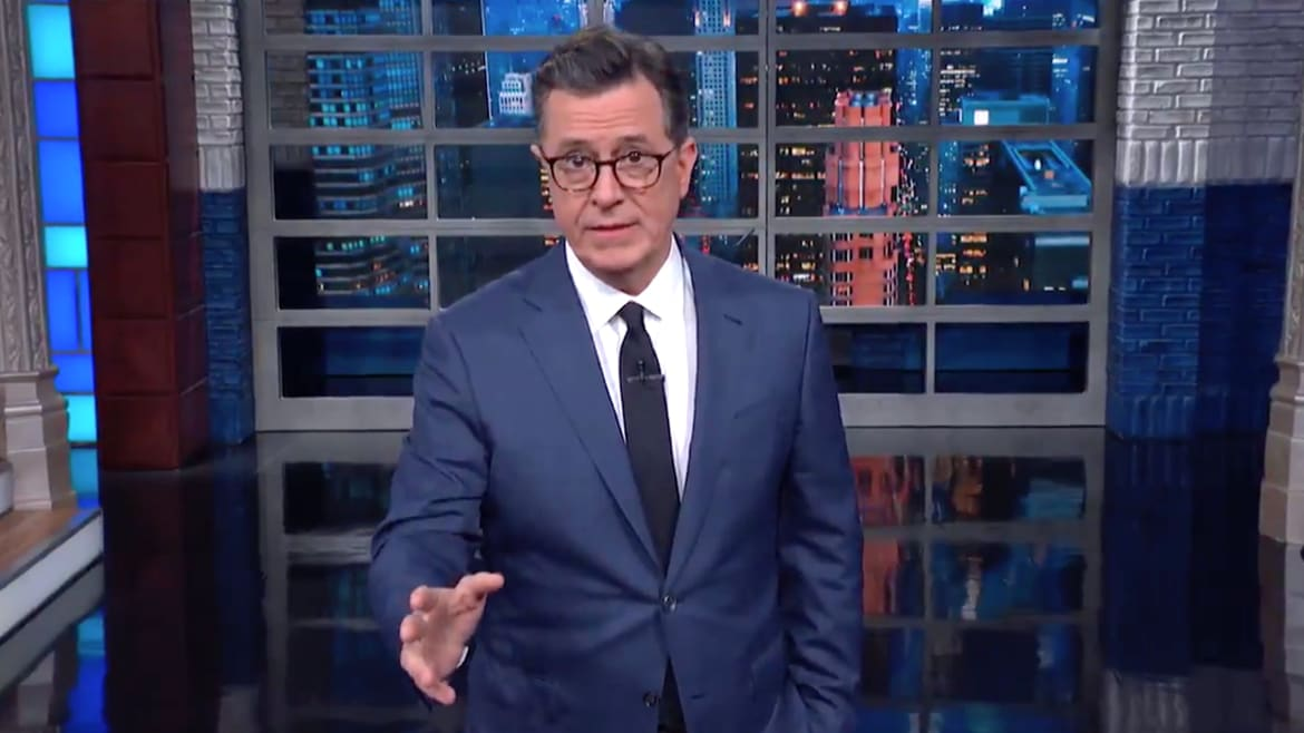 Stephen Colbert Blasts Trump's 'Tragically Ill-Conceived' Move Toward War With Iran