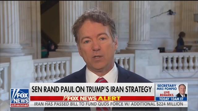 Rand Paul Rails Against Trump's Soleimani Strike: 'I Hate This'