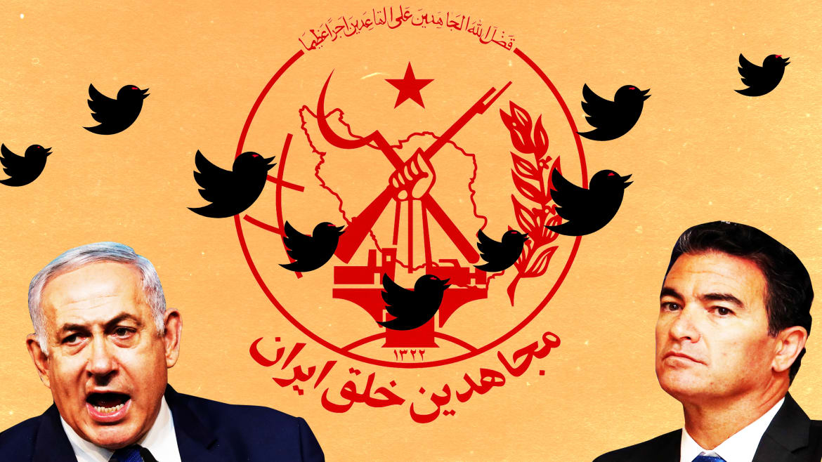 Fake Tweets Put Israel in Bed With Iranian Exile 'Terrorists'