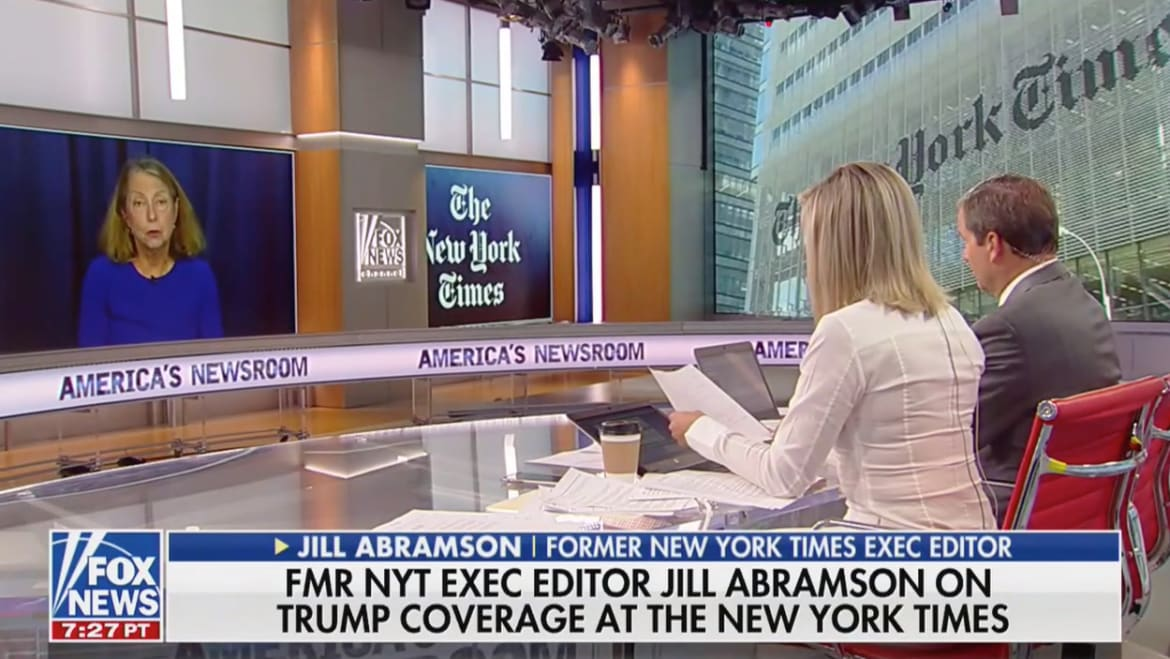 Fox News Tried to Get Jill Abramson to Call the New York Times Biased. It Backfired