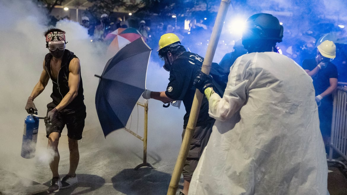 As Troops Mass in China, Hong Kong Protestors Call For 'The Revolution of Our Time'