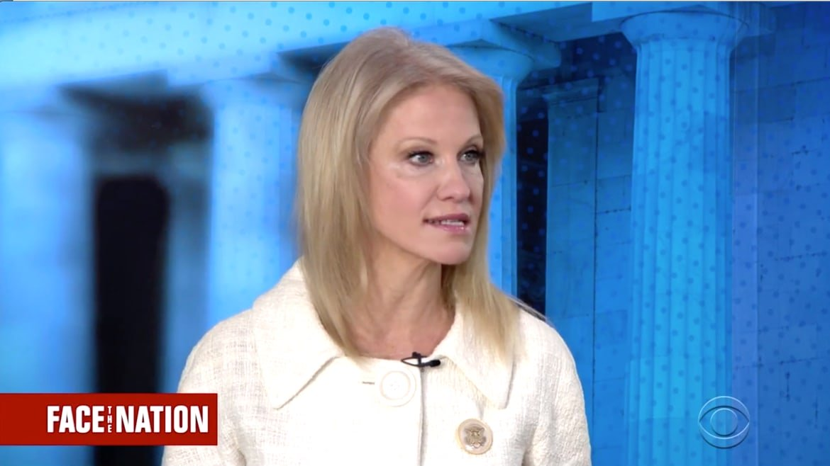 Kellyanne Conway Struggles to Defend Trumps DNC Server Conspiracy Theory on 'Face the Nation'