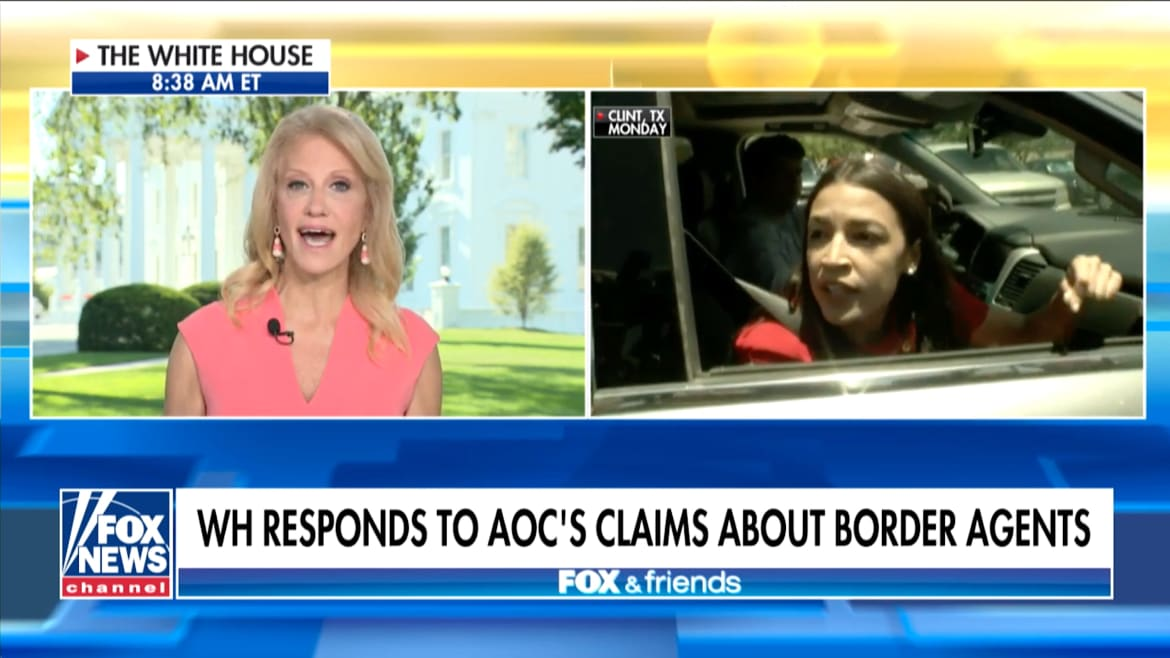 Kellyanne Conway Calls AOC a Liar for Claim That Migrants Are 'Drinking Out of Toilets'