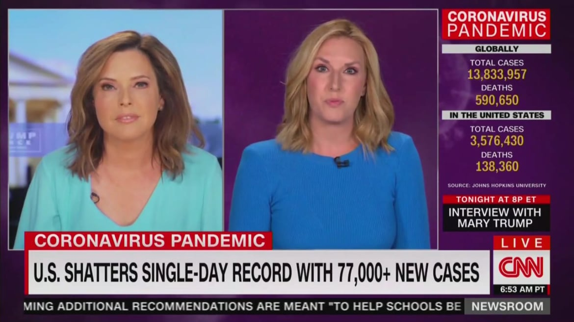CNN Anchor Shreds Trump Spox on President's COVID Response: 'Here Are the Facts'