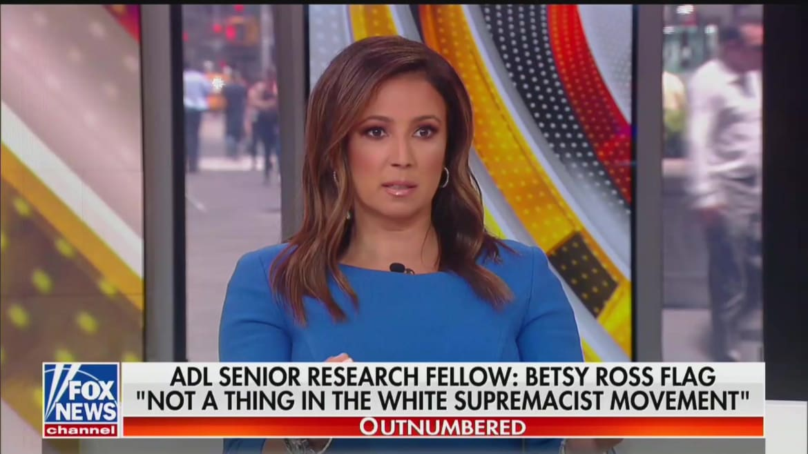 Fox News Anchor Julie Banderas Thinks It's Illegal to Burn the American Flag