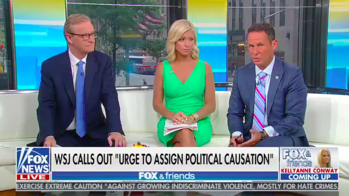 'Fox & Friends' Host Brian Kilmeade Defends 'Invasion' Term Allegedly Used by El Paso Suspect