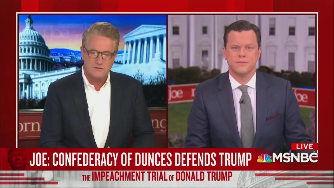 Joe Scarborough Trashes Trump's Defense Team: 'Confederacy of Dunces!'