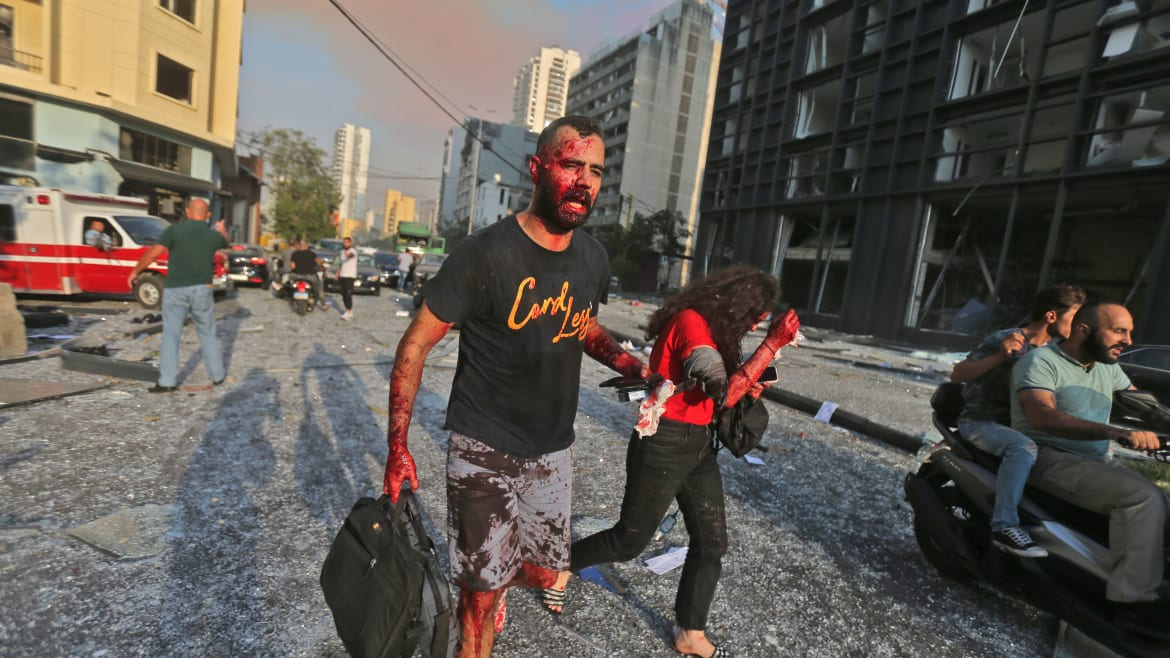 Bodies Strewn on the Ground After Apocalyptic Blast in Beirut
