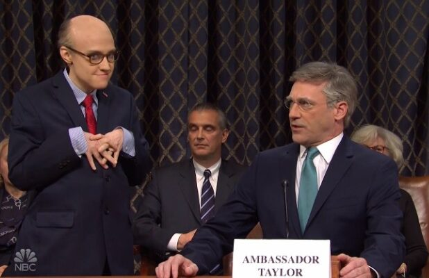 'SNL: Jon Hamm Is Bill Taylor in 'Days of Our Lives' Parody of Impeachment Hearings (Video)