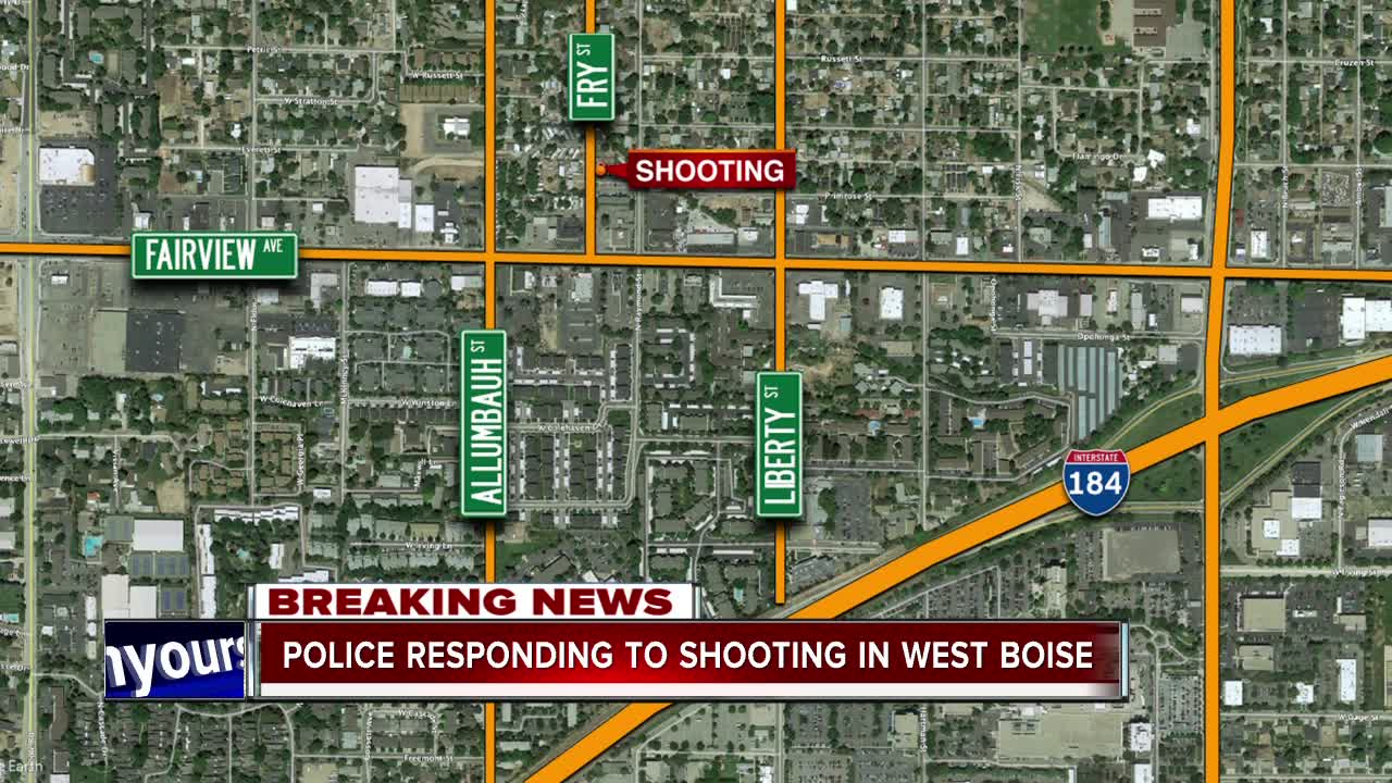 Police on the scene of a west Boise shooting