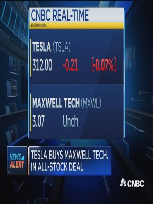 Tesla buys Maxwell Technologies in all-stock deal