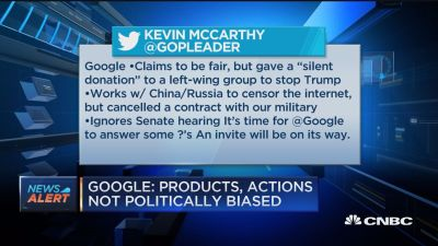 Google: Products, actions not politically biased [Video]