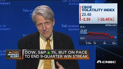 Yale's Robert Shiller: Trump boom making it harder to see...