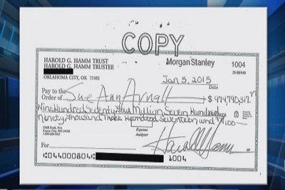 Hamm's ex-wife cashes $975 million check: Sources [Video]