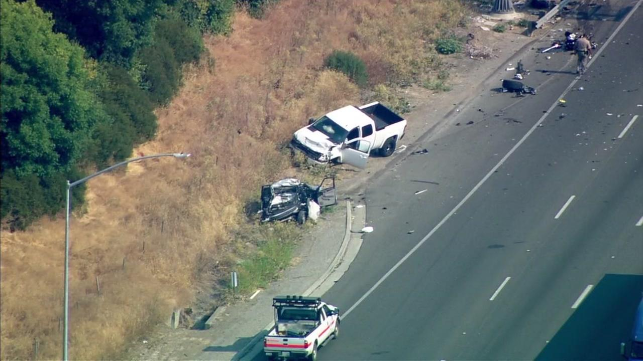 CHP investigating major vehicle accident causing traffic on I-80
