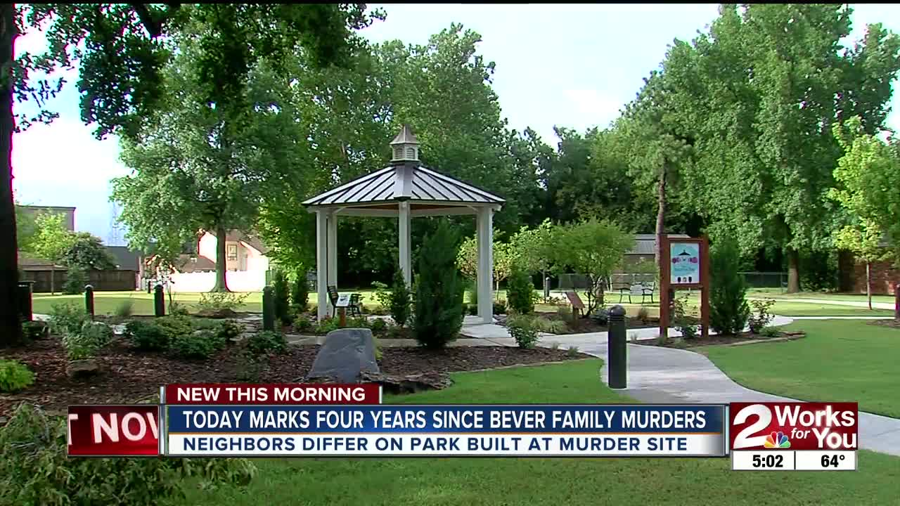 Four years since Bever family murders, neighbors differ on park built on  murder site