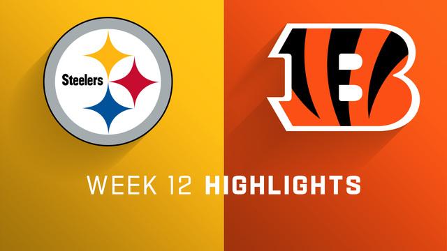 Steelers Vs Bengals Highlights Week 12