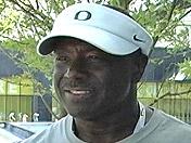 Oregon DL coach Ron Aiken