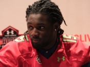 Josh Sweat Under Armour jersey presentation