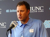 Larry Fedora talks on Media Day