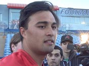 Anu Solomon after practice (March 4)