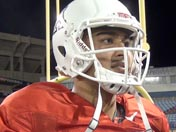 Anu Solomon after practice (Dec. 15)