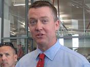 Greg Byrne at Lowell-Stevens FF media tour