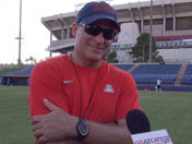 Rich Rodriguez after practice (Sept. 24)