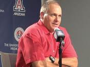 UA head coach Rich Rodriguez - Aug. 26