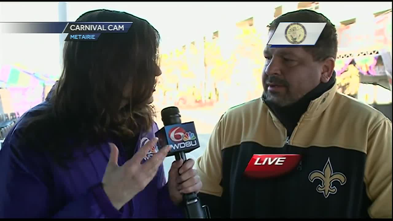 WDSU anchor Farrah Reyna LIVE in Metairie on Fat Tuesday! [Video]