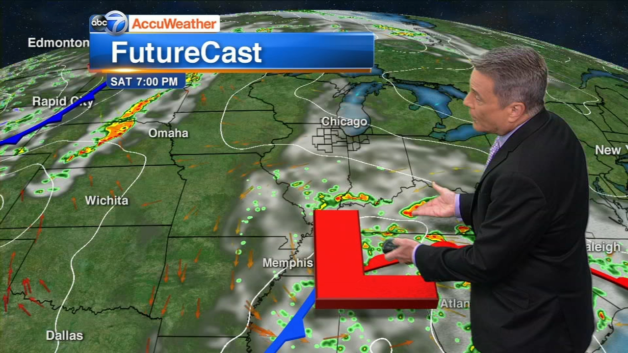 Chicago AccuWeather: Cool but late showers