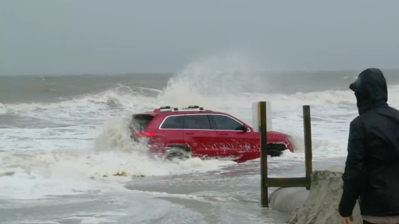 Hurricane Dorian: Story behind red Jeep abandoned on Myrtle Beach shore